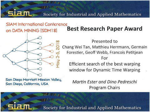 SDM'18 Best Paper Award