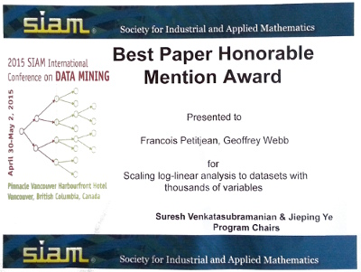 Best Research Paper Honorable Mention